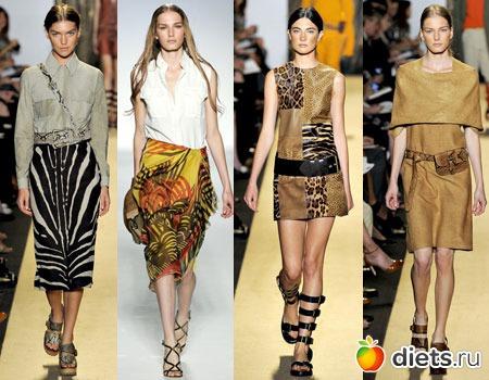 Амриканский модельер Anna Sui, чей бренд имеет огромный успех во всем мире, представила на своем показе модные платья с леопардовым окрасом