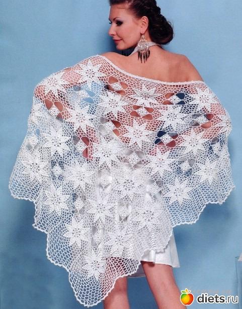 А вот я в своей любимой шали.