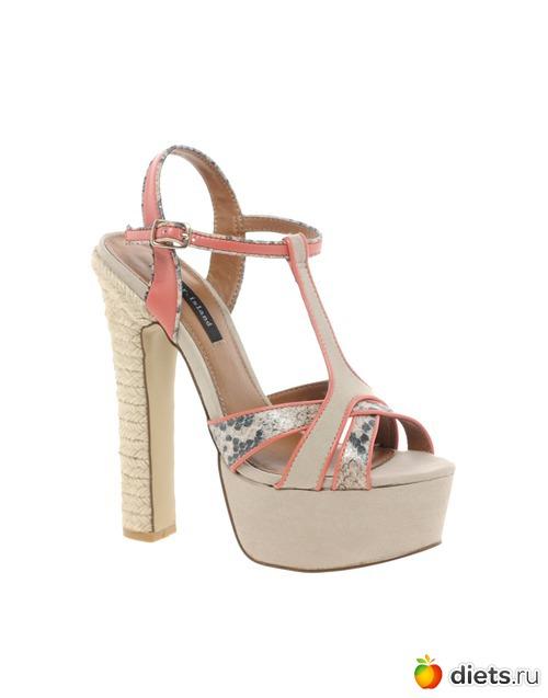 босоножки на высоком толстом каблуке женские River Island в магазине стильной одежды, обуви и аксессуаров