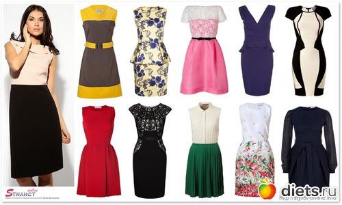 модели платьев для девушек с маленькой грудью: