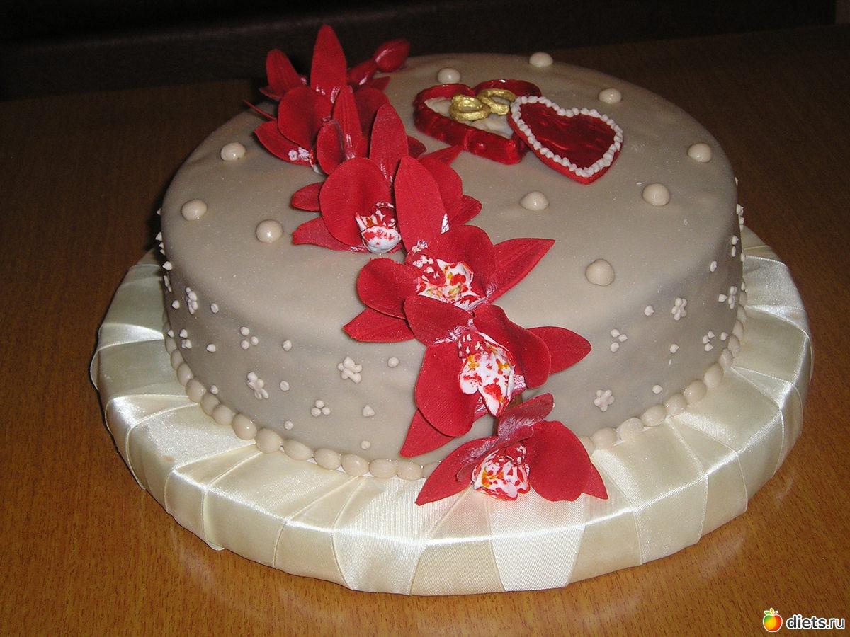 Как сделать свадебные кольца на торт