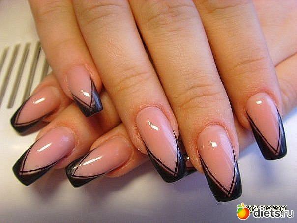 Дизайн нарощенных ногтей фото