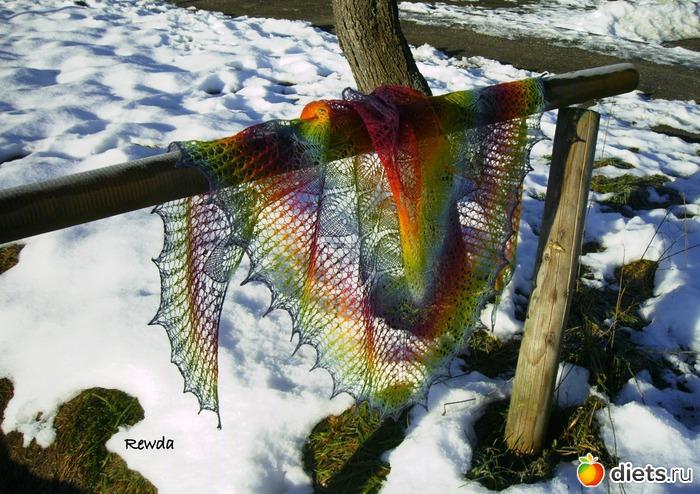 шаль- Замёрзшие Листья из