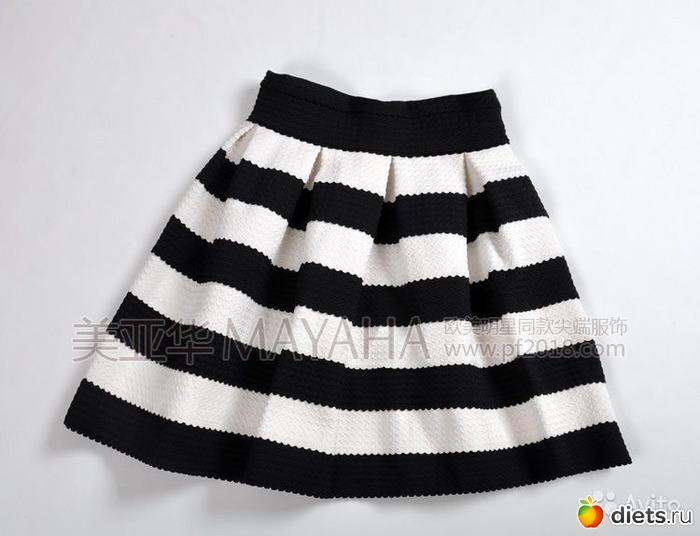 Юбка Черно Белая