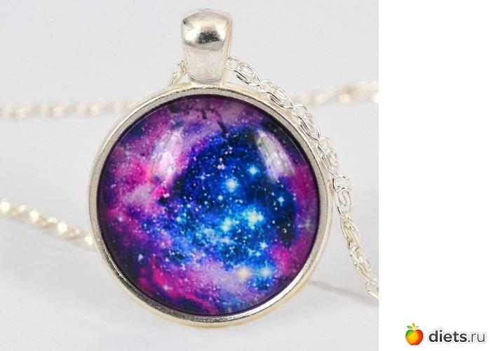 Galaxy серии ретро стиль картины звездная ночь gem ожерелье