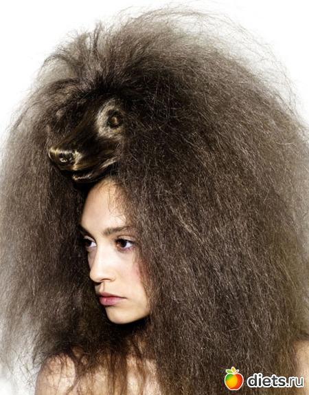 Волосы торчат дыбом
