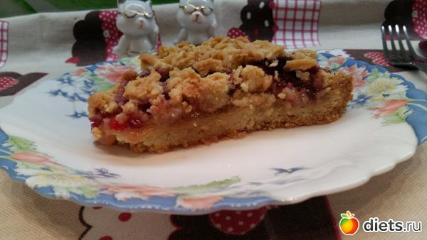 тертый пирог с малиной рецепт с фото