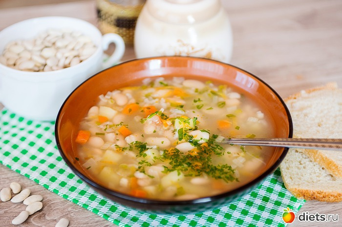 Как сварить суп с фасоли