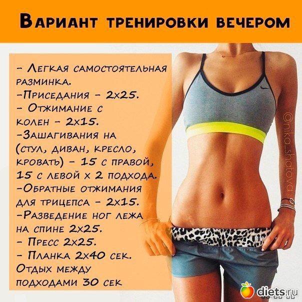 Как похудеть на диете и тренировках