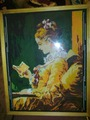 Вышивка. Дама с книгой