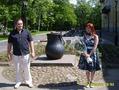 В Кронштадте,с котлом и новоиспеченным мужем))