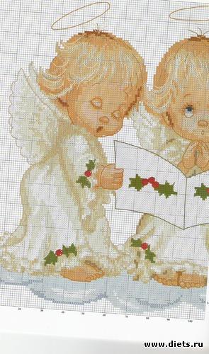 ангелочки часть1, альбом: вышивки к новому году. легко и быстро!