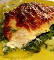 Рыба с овощами под сырным соусом