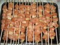 Шашлычки из курицы и ананасов