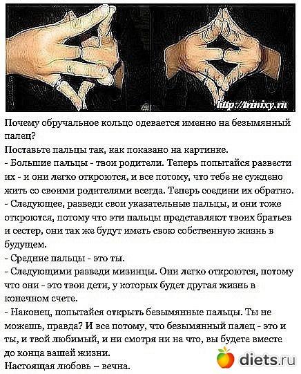 Почему обручальное кольцо носят на безымянном