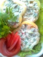 Перец, фаршированный овощами и творожным сыром