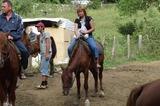 на конной прогулке