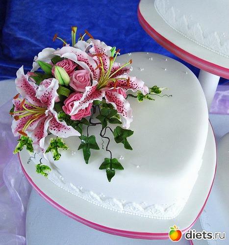 Украшение тортов сахарной мастикой фото