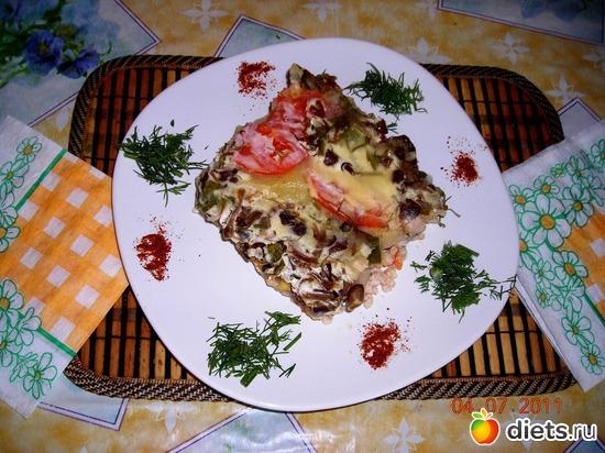 Картофельная запеканка с курицей в грибном соусе., альбом: Мои блюда