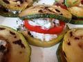 """ингредиенты """"гамбургера"""" из кабачков."""