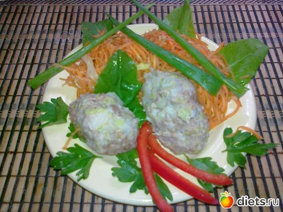 котлеты на пару с морковкой по корейски, альбом: Мои блюда