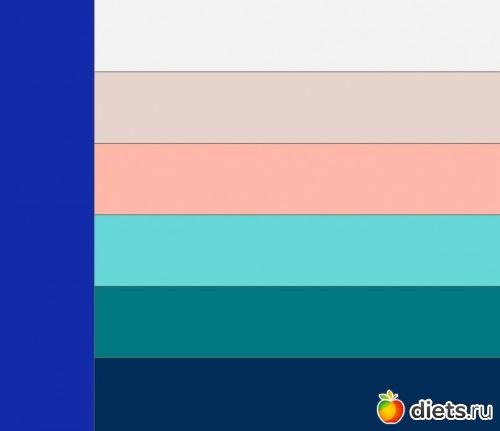 Какие цвета подходят к синему