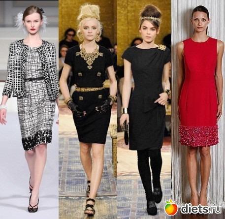 Платья футляры платья в стиле chanel
