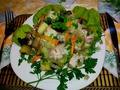 Куриная грудка с картофелем и грибами(запечённая в пакете для запекания)