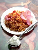 Рис и чечевица со свеклой