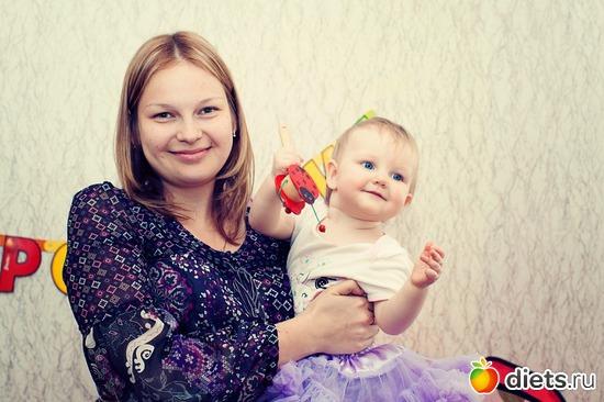 С дочкой подруги (не моя!!! ))) ), 30 апреля 2011, вес 72,5, альбом: Я в разном весе :)