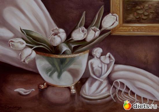 Натюрморт с вазой на львиных лапах., альбом: Мои работы