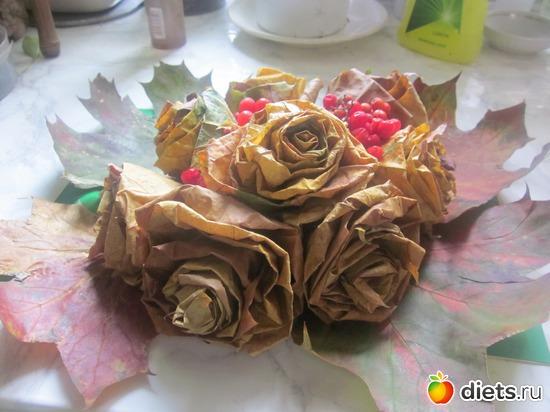 букет из кленовых листьев, альбом: Осень во Львове,мои поделки