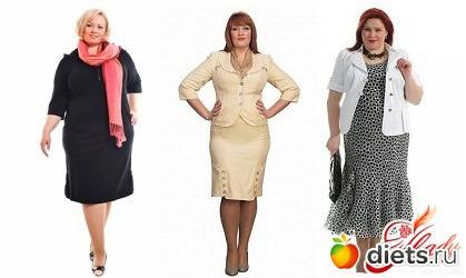 35056ed9aef Мода для очень полных женщин тоже исключает одежду с большим количеством  различных деталей. Также не стоит носить одежду с массивными рукавами и ...