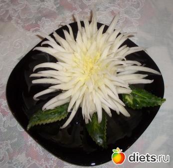 хризантема из пекинской капусты