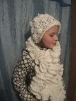 Комплект: шапочка + шарф