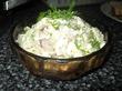 Салат из сельди и каперсов.