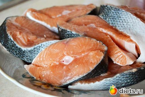 Красная рыба с сыром