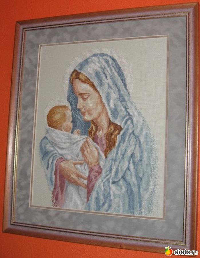 Мадонна с ребенком вышивка крестом