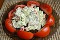 Теплый салат с картофелем
