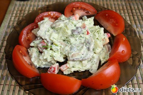 Теплый салат с картофелем, альбом: Фотографии Ваших блюд
