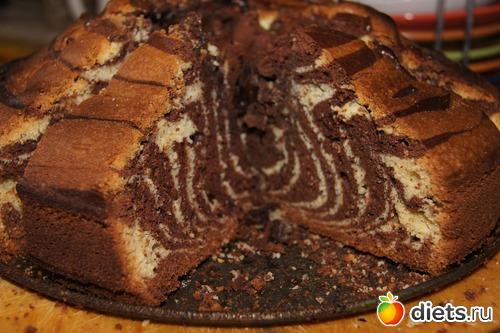 Рецепт кекса зебра на сметане в духовке