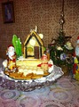 Бисквитный торт с домиком