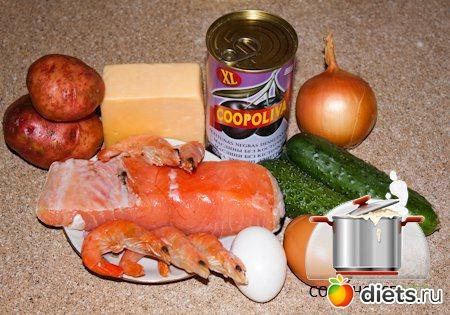 Салат Морской, пошаговый рецепт с фото