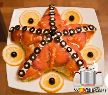 рецепты салата морская звезда с фото