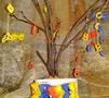 детское дерево из макарон