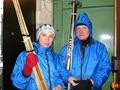 лыжники вернулись с утренней пробежки