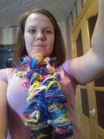 Как связать шарф Дантела крючком на детских граблях.