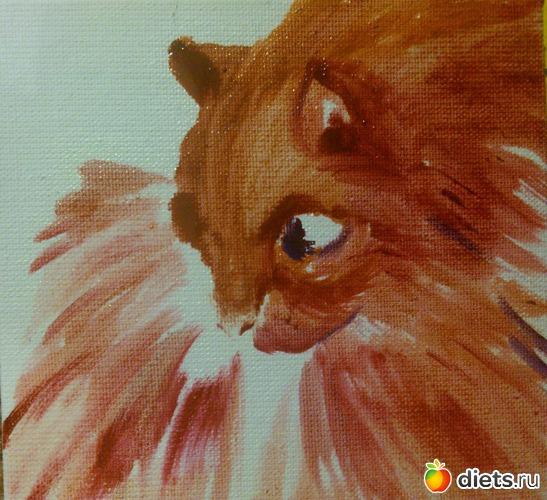 *Рыжий кот*, продан - возможен повтор, альбом: Вернисаж картин Дарьи Тундры  (Дарья Калита)