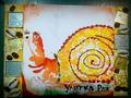 *Улитка Рая*, акрил, грунтованный картон, рамка - авторская работа, А4