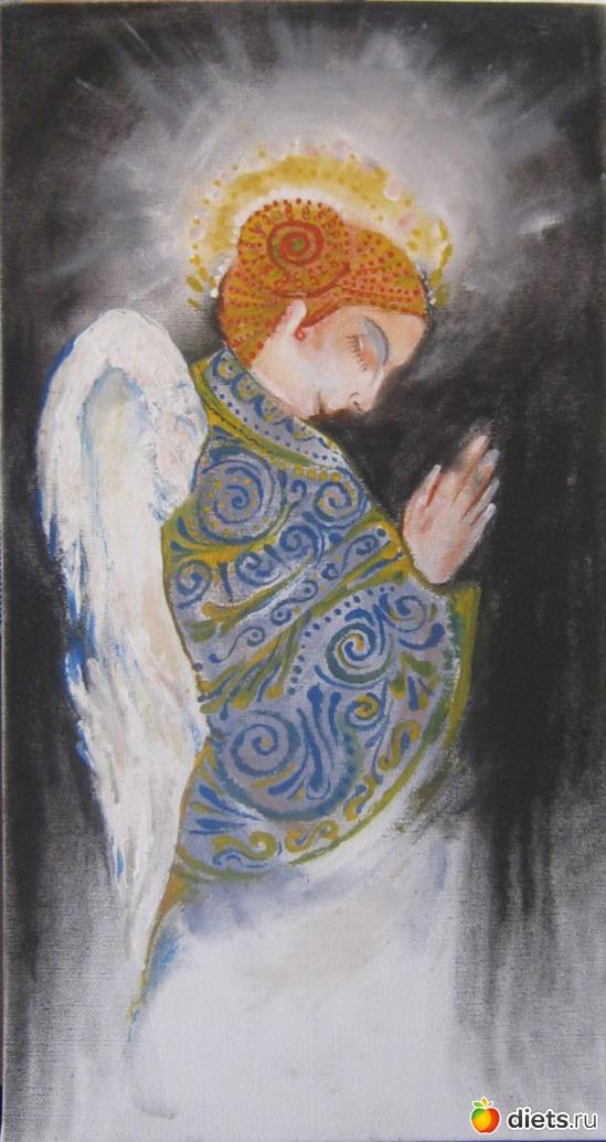 *Ангел*, пастель, акрил, холст на подрамнике, альбом: Вернисаж картин Дарьи Тундры  (Дарья Калита)